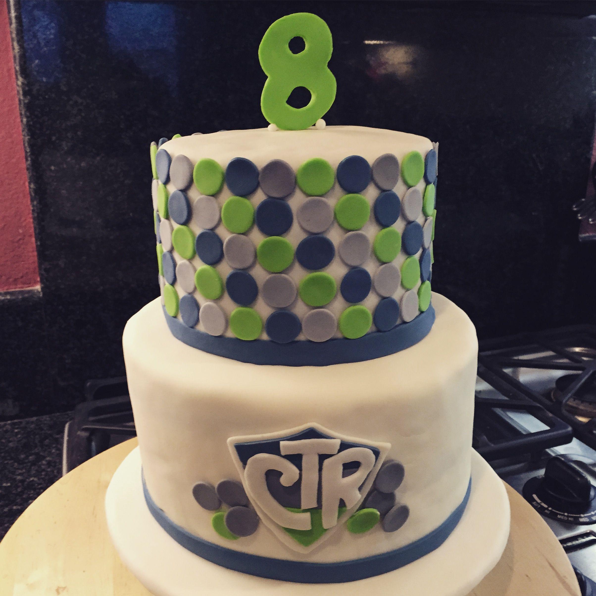 Polka Dot CTR cake for LDS baptism | Baptism Cakes | Pinterest