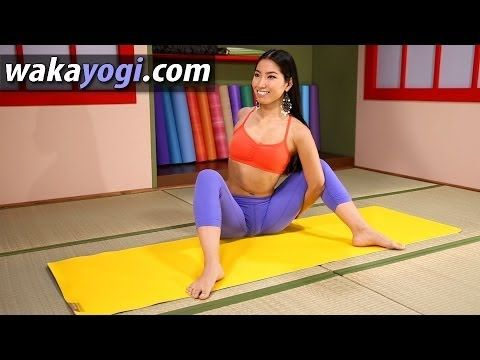 revolved blossoming lotus pose  yoga workout with waka