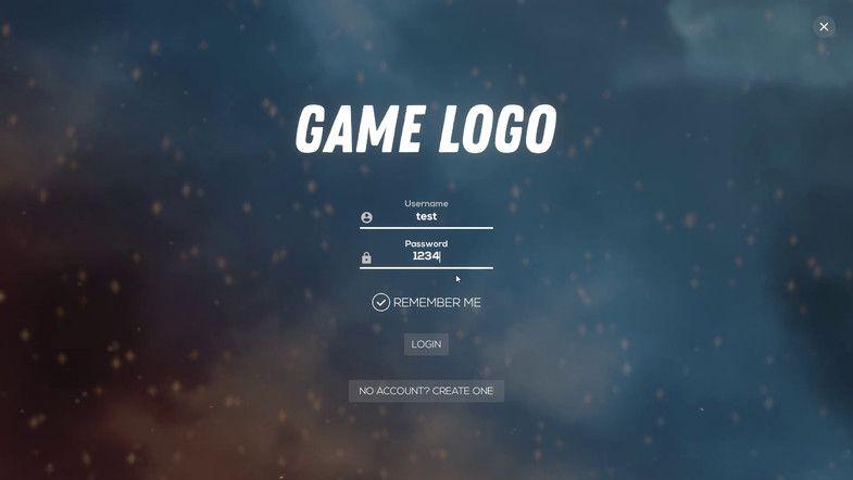 Game main menu design