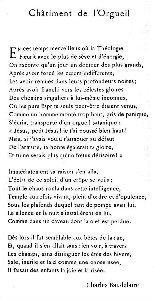 Châtiment De Lorgueil Poeme Et Citation Orgueil Et Poeme
