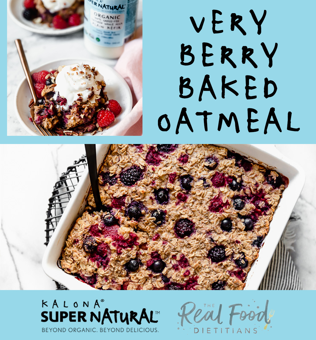 Very Berry Baked Oatmeal Kalona Supernatural Recipe In 2020 Baked Oatmeal Kefir Recipes Baking
