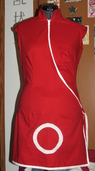 Naruto Shippuden Sakura Haruno Casual Red Handmade Halloween Cosplay Costume