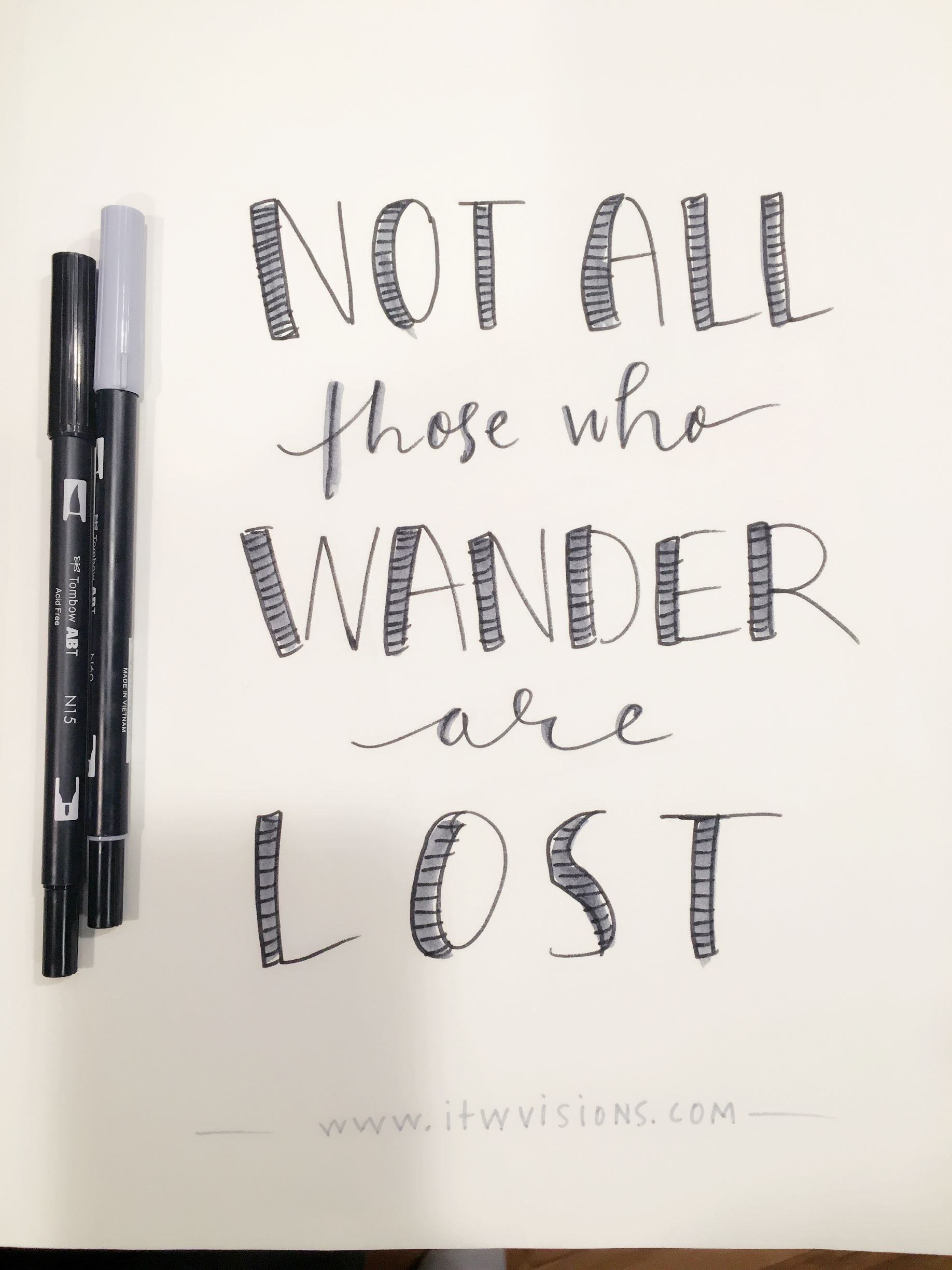 Not all those who wander are lost motivational quote