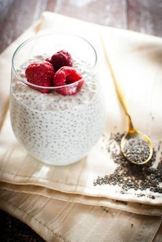Photo of Protein-rich chia pudding with low-fat curd cheese: basic recipe