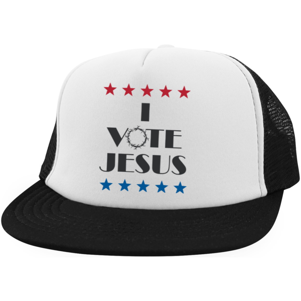 I Vote Jesus - Trucker Hat with Snapback  1bf866f15de2