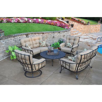 Meadowcraft Vinings 5 Piece Deep Seating Group with cushions