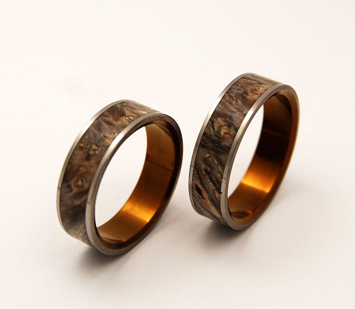 khrysos wooden wedding rings by minterandrichterdes on etsy via etsy - Wooden Wedding Rings