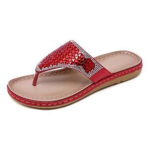 Cute Flip Flop Summer 2019 Women Slippers Bling Shoes Flat Beach Slippers Flip Flops