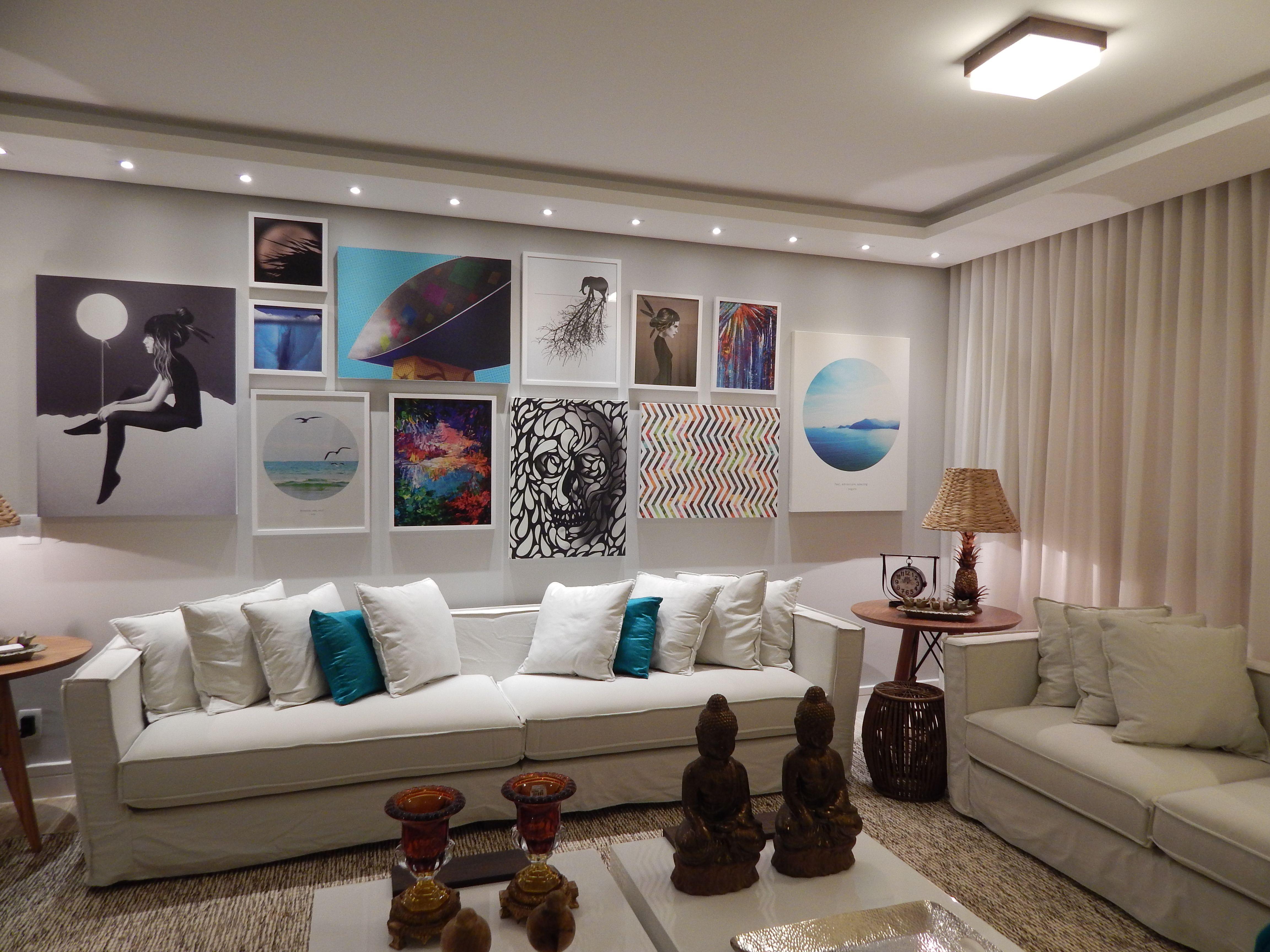 Sala de estar 2014 arquiteta barbara panassi azul - Pintura azul turquesa ...