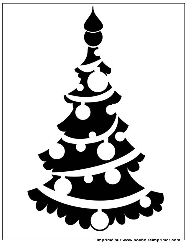Pochoir à Imprimer Pochoir Noël Pochoir Noel