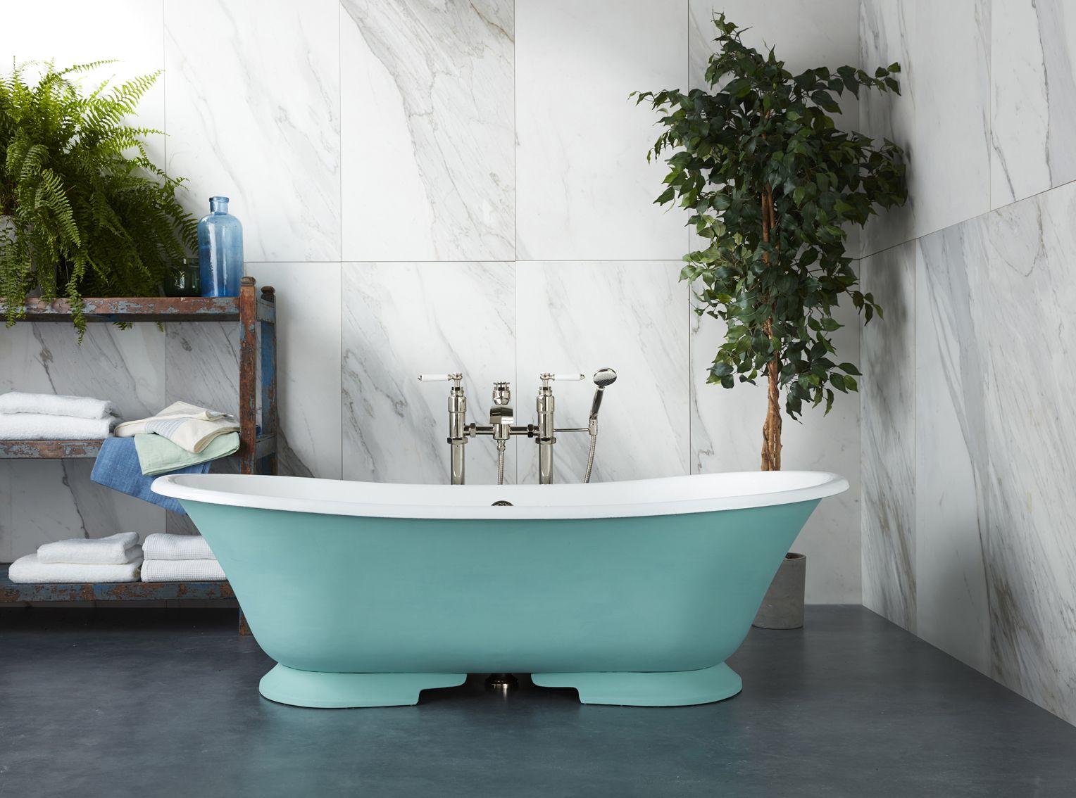 Drummonds\' Serpentine cast iron bath has a very distinctive low ...