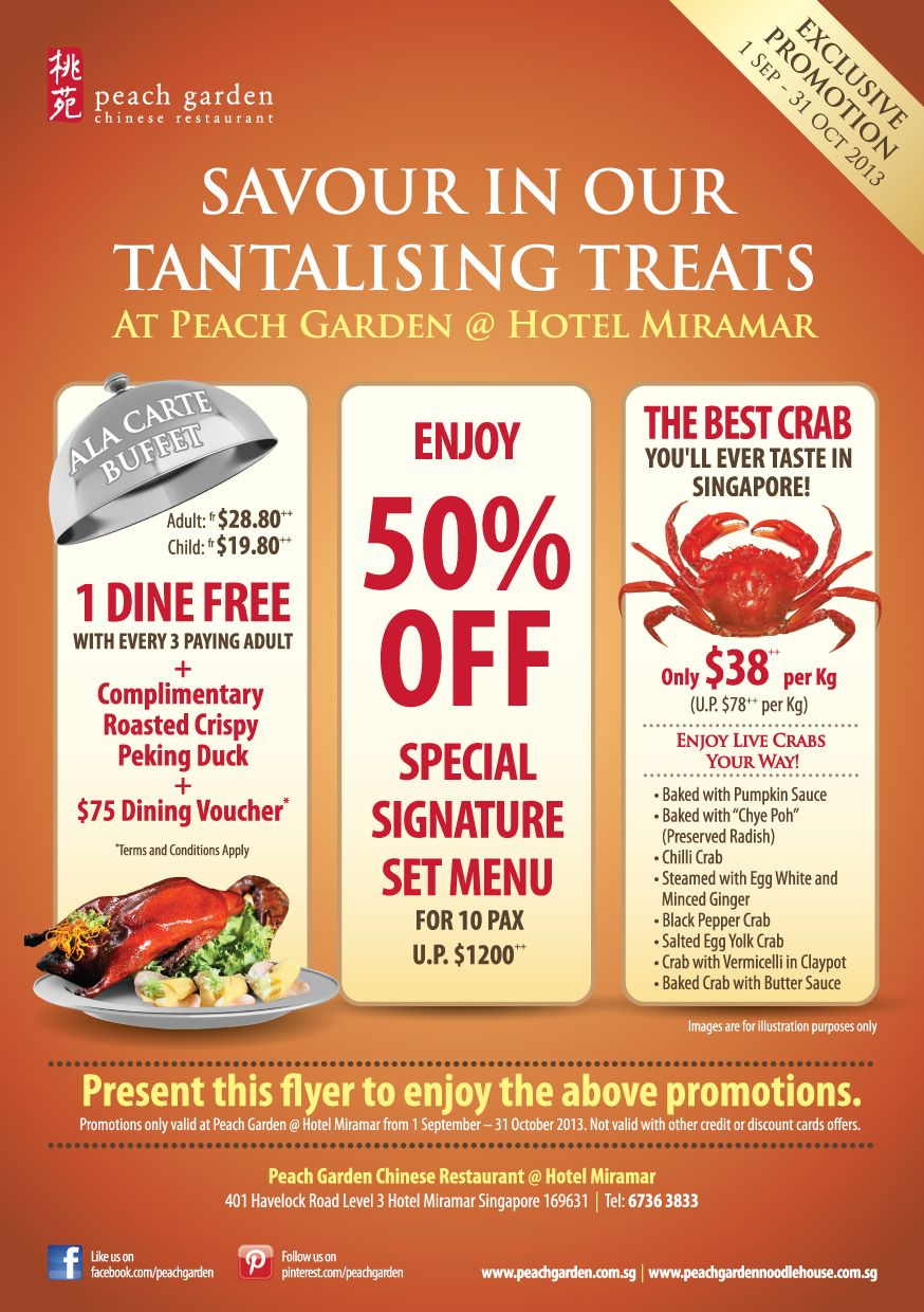 Promotions At Hotel Miramar Http Facebook Com Peachgarden Chinese Restaurant Best Crabs What To Cook
