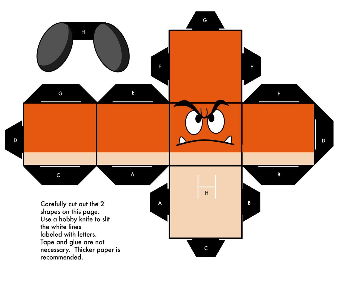 Papercraft: Mario/Angry Birds/Matt Groening[Para Imprimir] | Mario ...