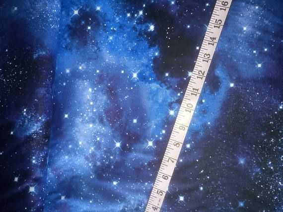 2eaef53604e Galaxy fabric timeless treasures galaxy fabric blue stars fabric swirls  cosmic fabric night sky fabric quilting