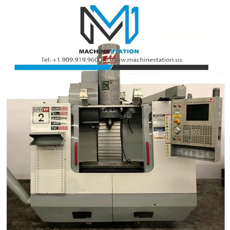 Haas Vf 2ss Vertical Machining Center In 2020 Vertical Cnc Machine Machine Tools