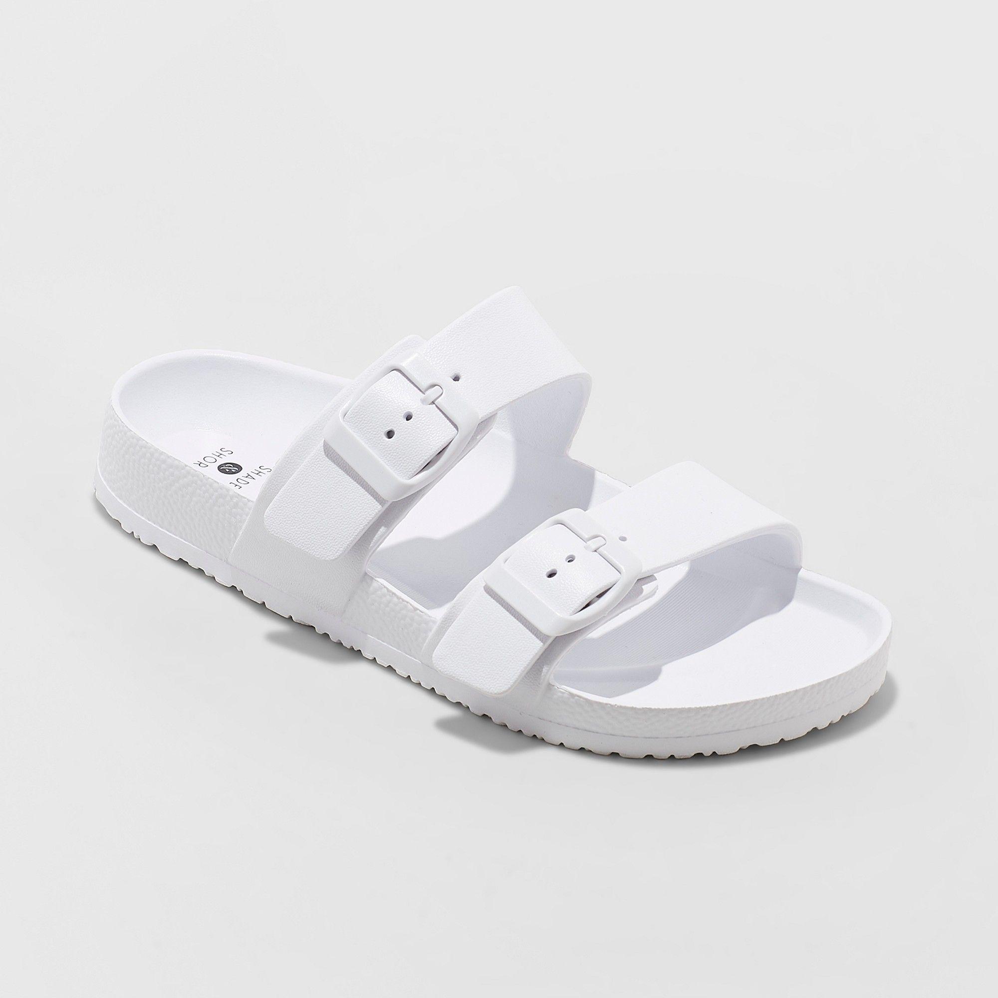 96a3d5a43ef Women s Neida Wide Width Eva Two Band Flip Flop Slide Sandals - Shade    Shore White 11W