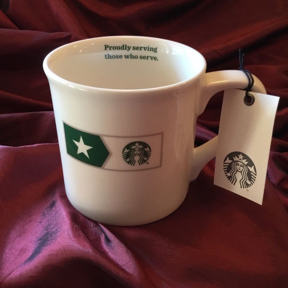 Serving Ceramic Made 2013 Starbucks Mug Tribute Proudly Military Nwt q4ASLc35Rj