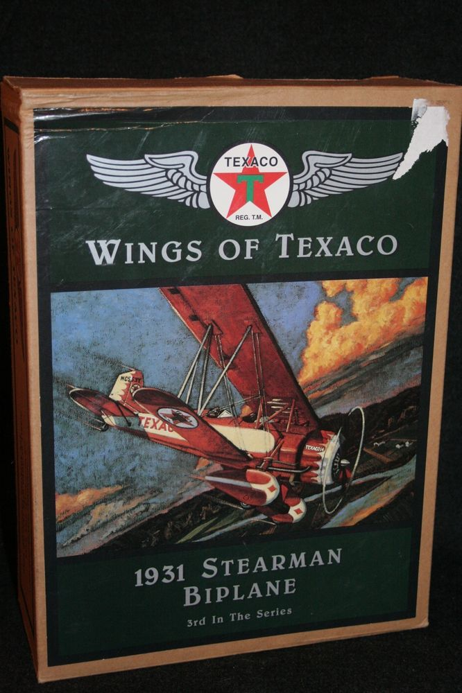 Wings of Texaco 1931 STEARMAN BIPLANE Mint Condition in Box #3 Airplane