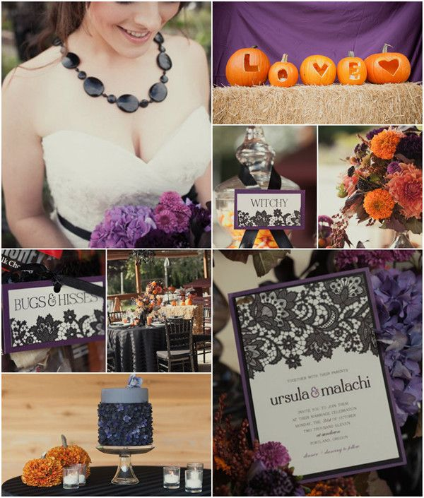 "Halloween Wedding Theme Ideas: ""Trick Or Treat"" Halloween Inspired Wedding Ideas And"