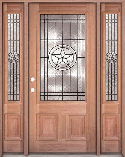Texas Star Lite Mahogany Prehung Wood Door Unit with Transom & door-mahogany-exterior-star-70-sidelites-500x500.jpg (400×500 ...
