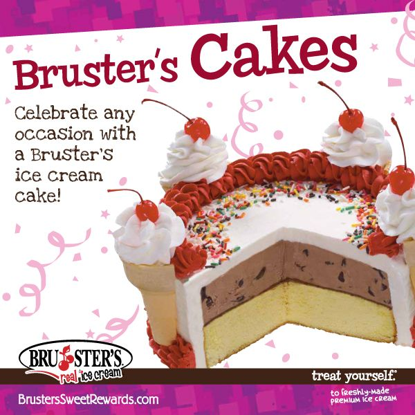 Did You Know You Can Order A Bruster S Ice Cream Cake In Any One Of Our Awesome Flavors Ice Cream Cake Happy Birthday Ron Ice Cream
