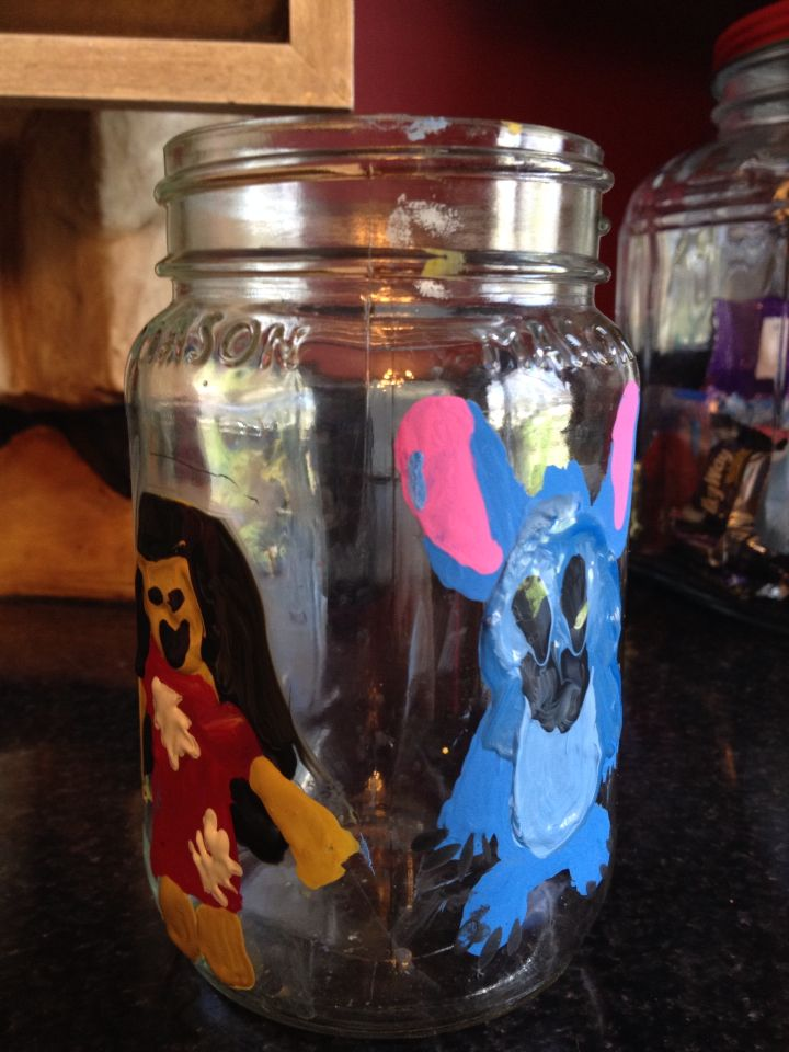 Disney Lilo And Stitch-Ver Mignon Maille A Jar//TERRARIUM//Mini Mason jar
