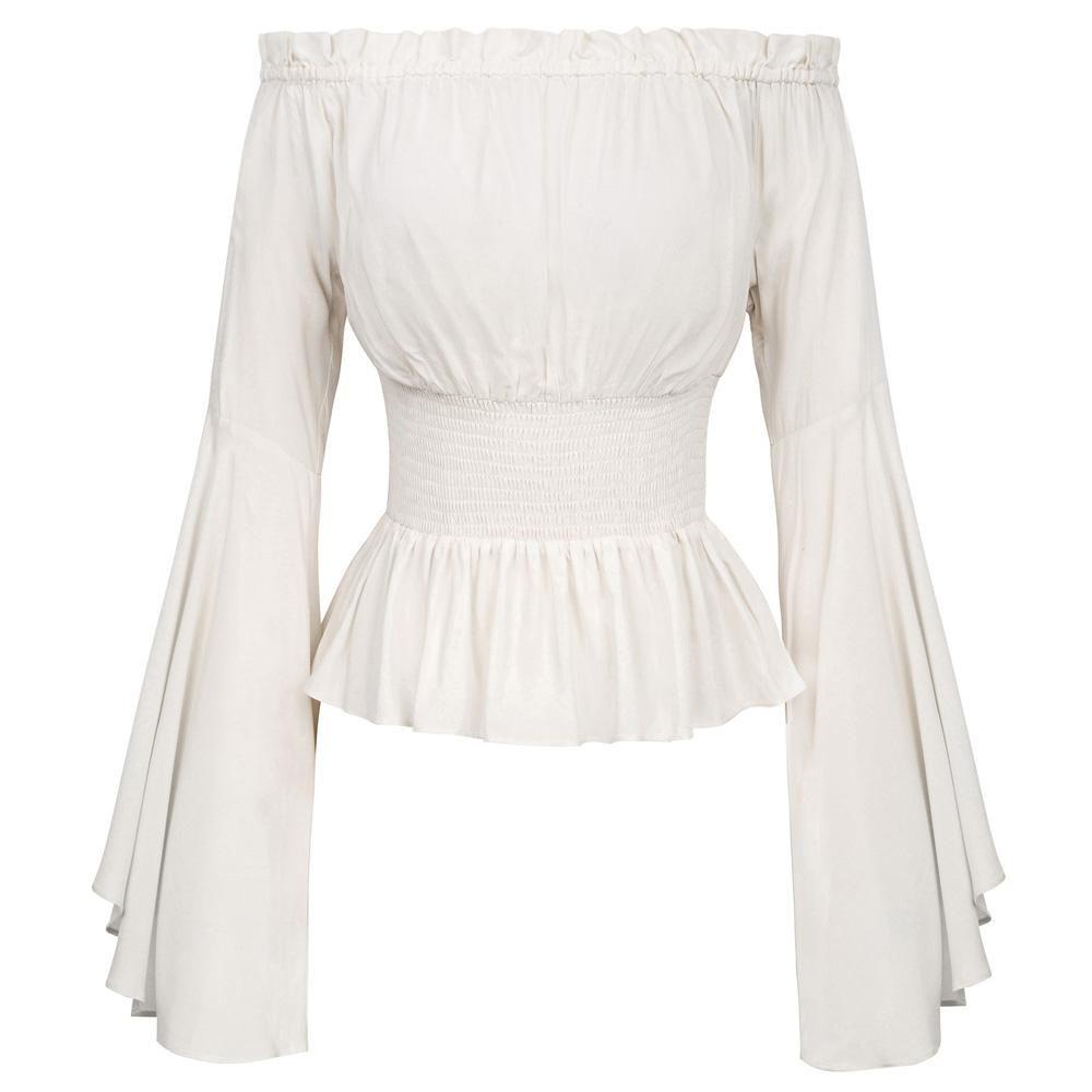 Women vintage black evening blouse Size M