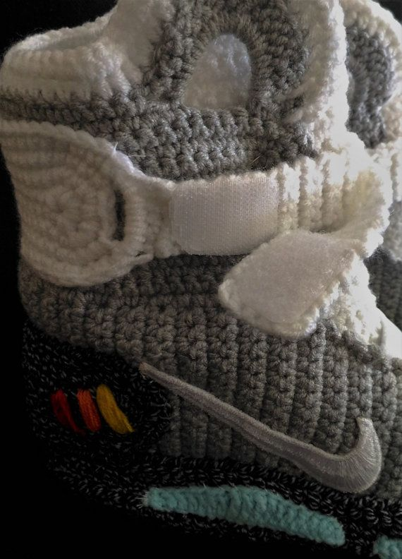 d19457a9356812 Marty McFly Shoes Nike Air Mags Back to the Future Knitted