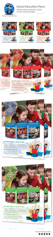 Junior School Education Flyer Template - Flyers Print Templates