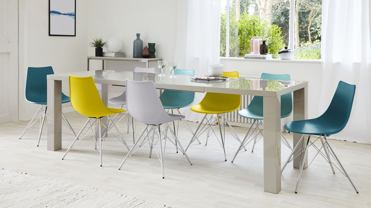 Fern grey gloss extending dining table fern dining and gray