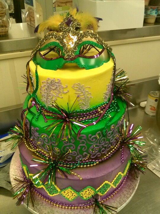 Mardi Gras cake that I made at Publix! | Kick ass cakes! | Pinterest ...