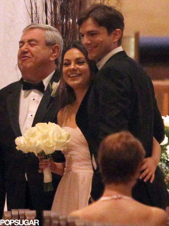 Ashton Kutcher And Mila Kunis Walk Down The Aisle Ashton Kutcher Mila Kunis Ashton Kutcher Mila Kunis Ashton