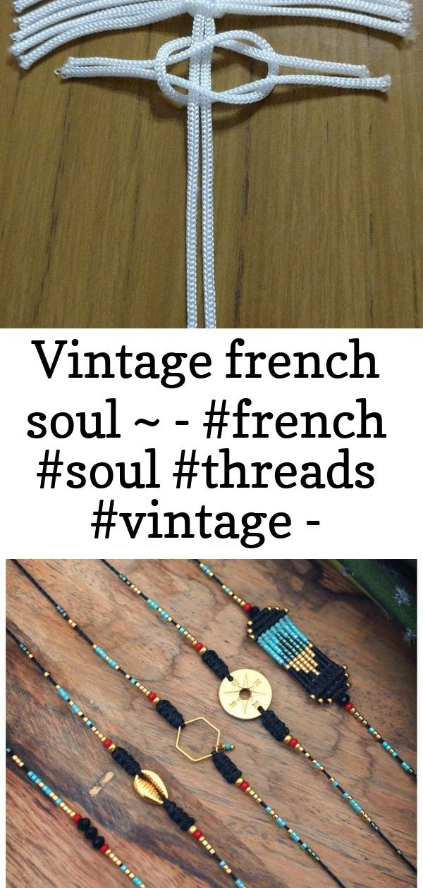 Vintage french soul    1 Vintage French Soul    Hand woven macrame friendship bracelets black coral red and turquoise with gold hexagon cowrie or compass  Prey 30 Best DI...