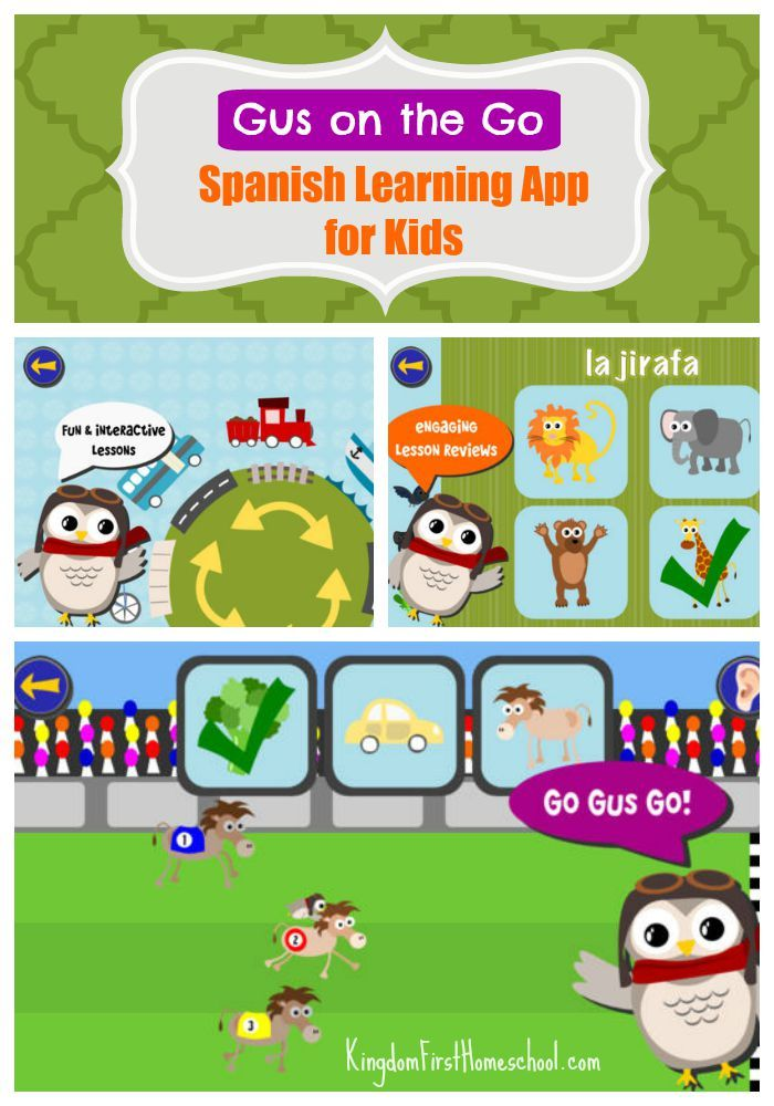 Super Cute and Fun Spanish App for Kids Gus On The Go