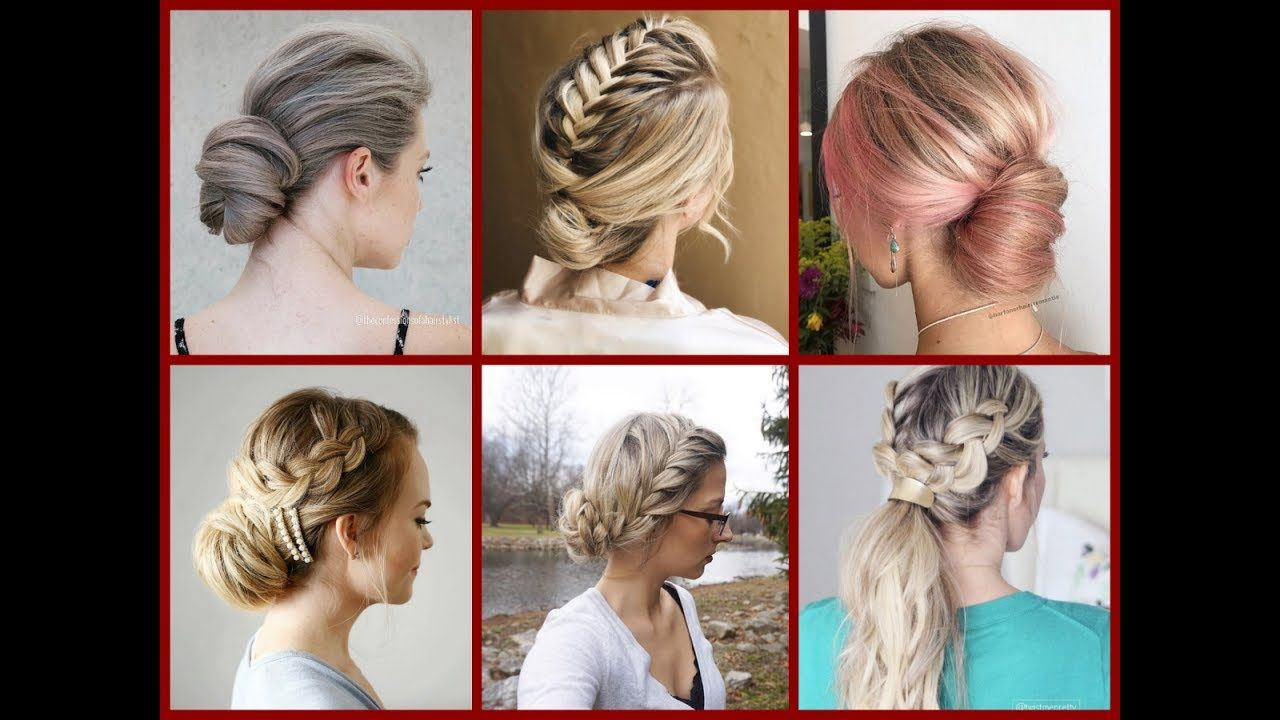 Top-30 Easy Everyday Updo Ideas - Updo Hairstyles For Work & School ...