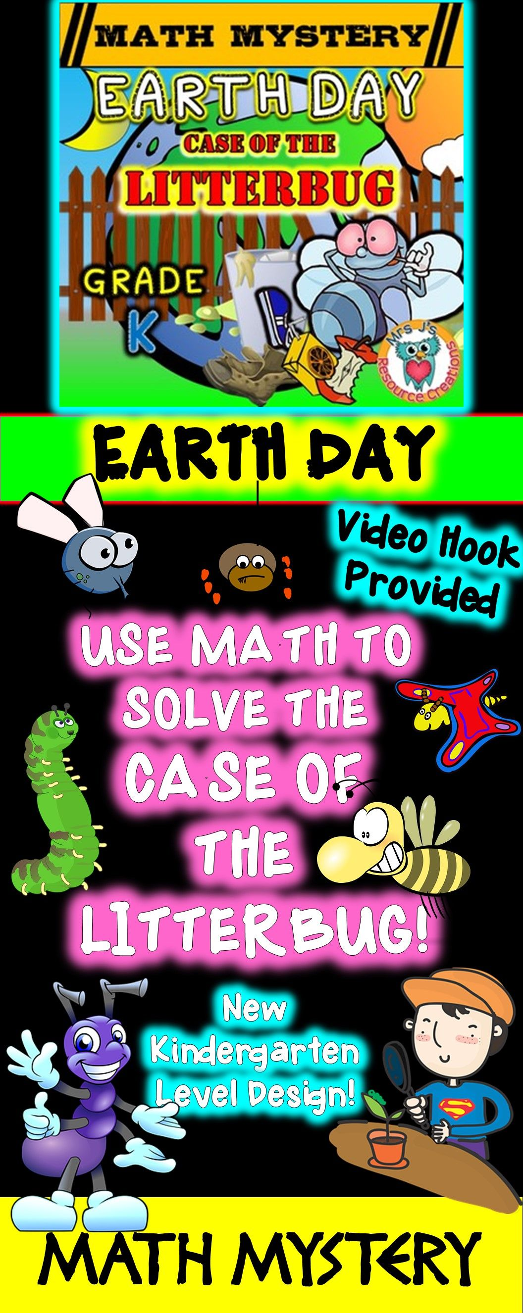 Earth Day Math Mystery Case Of The Litterbug Simple And