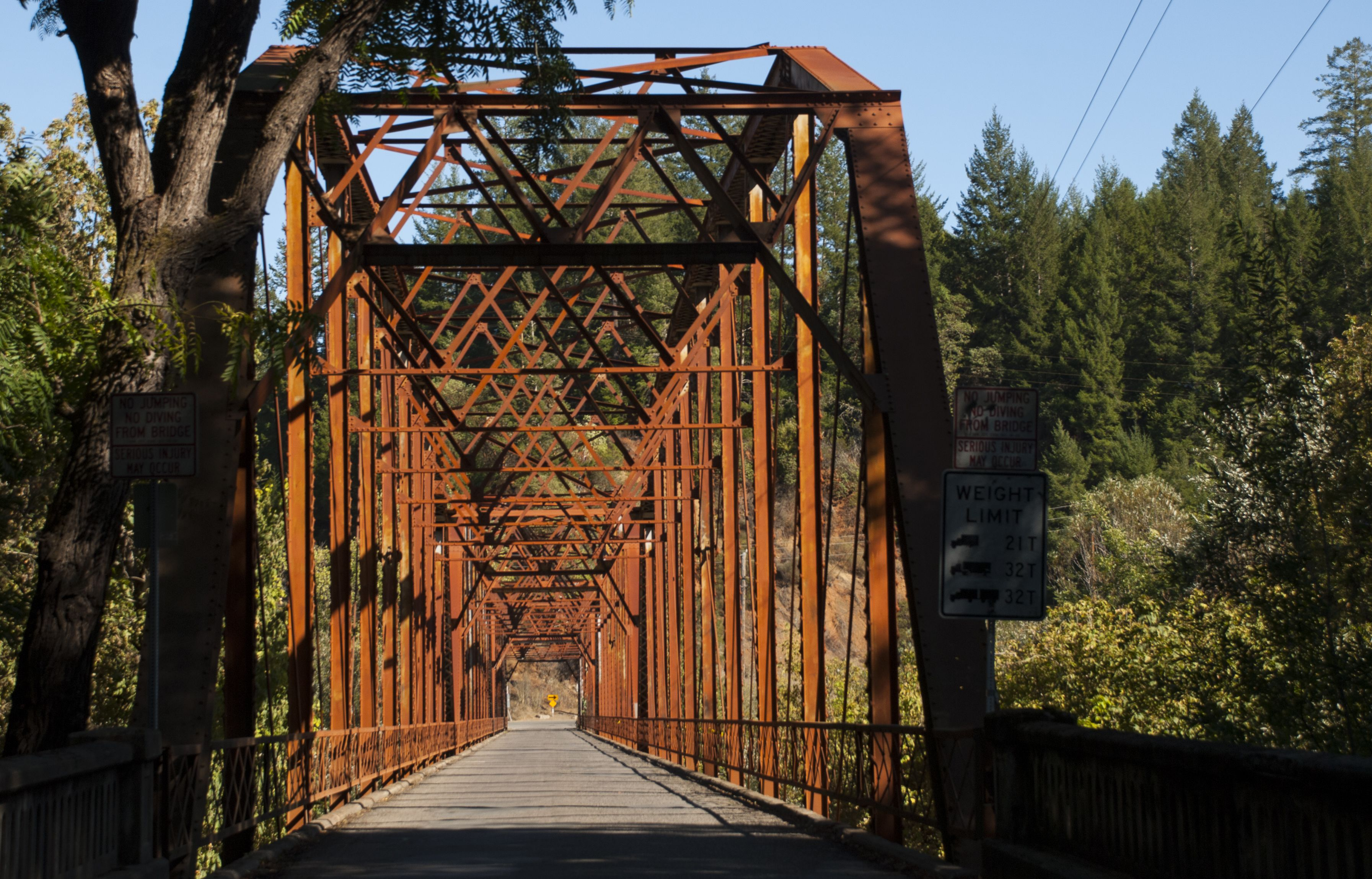 Historic bridge over the Russian River west of Windsor California in ...