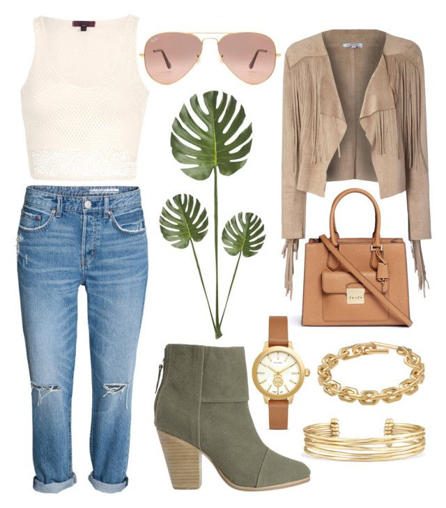 """""""Nature Palette"""" by laurawigmore on Polyvore featuring Glamorous, rag & bone, Michael Kors, Ray-Ban, Tory Burch, Stella & Dot, Calvin Klein and CB2"""