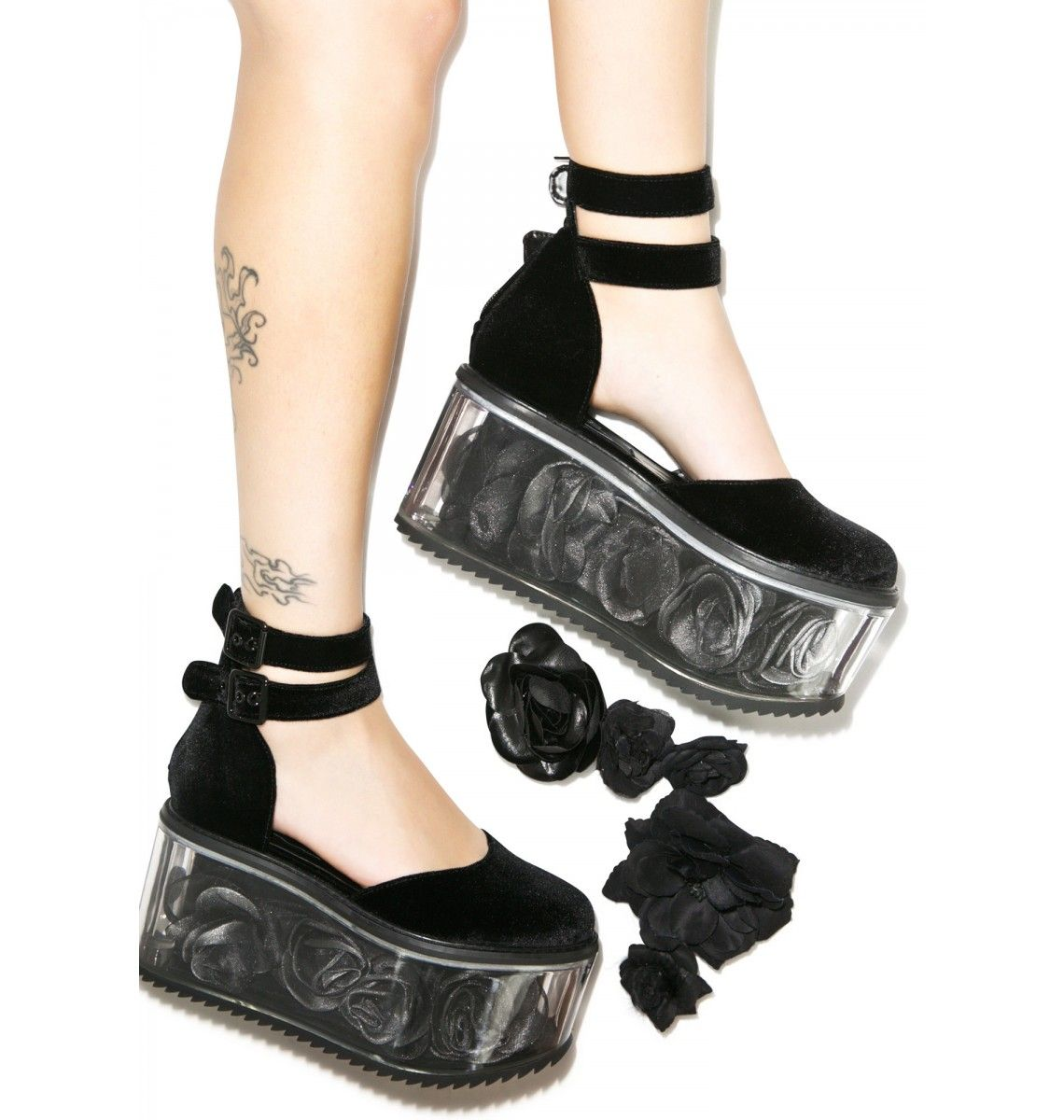 Velvet rose platforms bae rose and clothes
