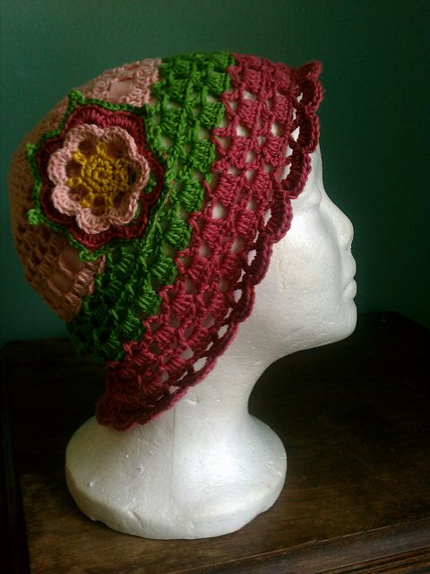 Light Summer Hat with a Flower ~ free pattern