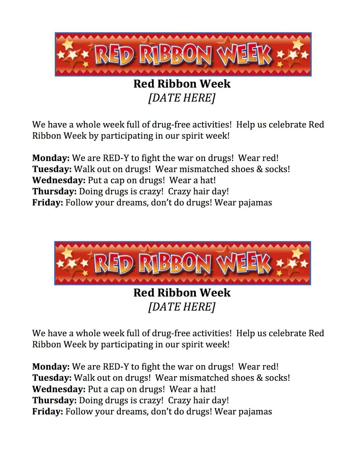 What 5 Teach Me Red Ribbon Week