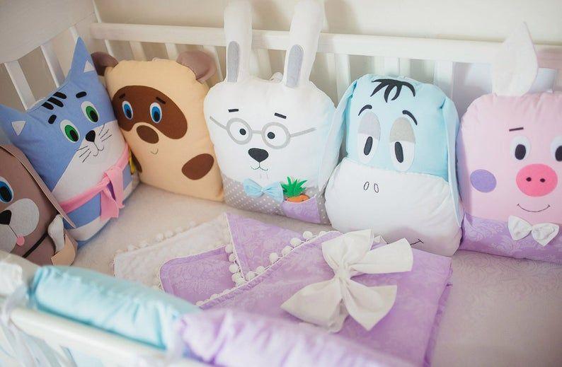 Babyshower Crib bumpers bumper linen bedding set b