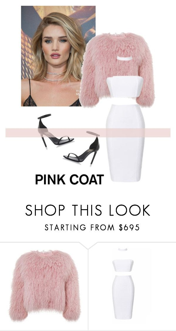 """""""Pink Coat"""" by emmagraceshaw ❤ liked on Polyvore featuring Whiteley, Charlotte Simone and Yves Saint Laurent"""