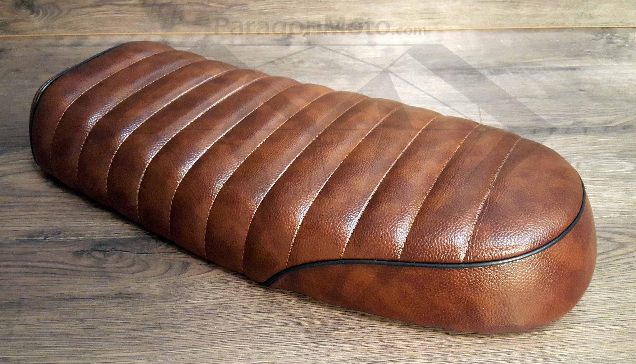 Cafe Racer Seat Brat For Honda Vintage Dark Brown Retro Leather Universal Seats