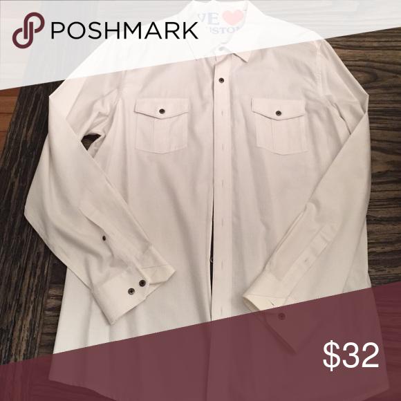 Rock & republic men's shirt Like new white shirt with small white pattern sewn in Rock & Republic Shirts Dress Shirts