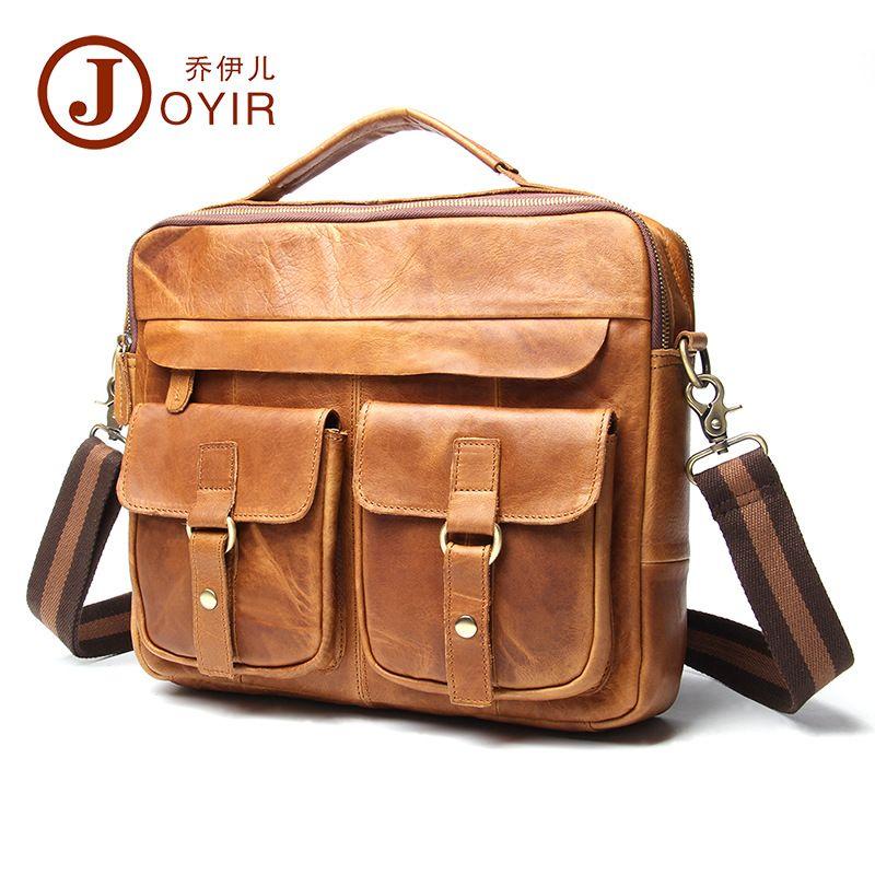 0cd4c061a3cf 2017 Genuine Leather Men Bag Crazy Horse Leather Men s Handbags Casual  Business Laptop Shoulder Bags Briefcase Messenger bag NEW  Affiliate