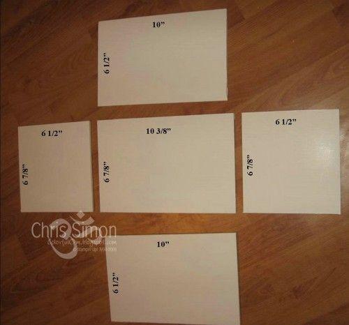 DIY foam board Craft Storage | The dimensions to cut the ...