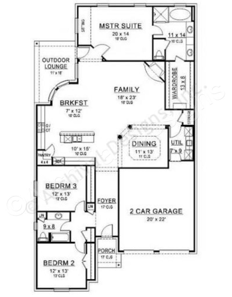 Rose Hill House Plan Ranch Floor House Plan First Floor Plan Floor Plans Ranch Pool House Plans Unique Small House Plans