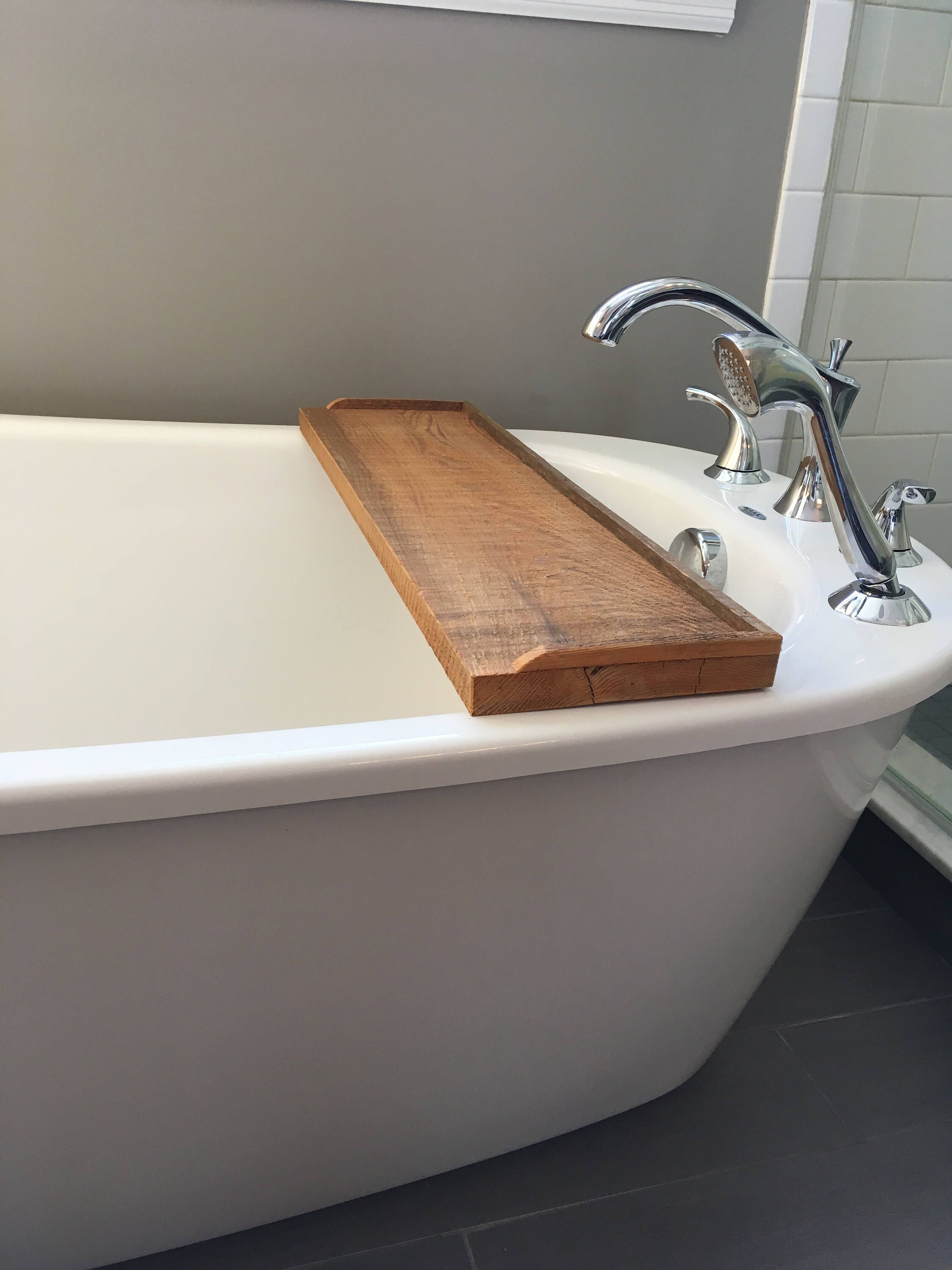 bathtrays #bath #uniquegiftideas Bathtub tray, bath shelf, wood bath ...