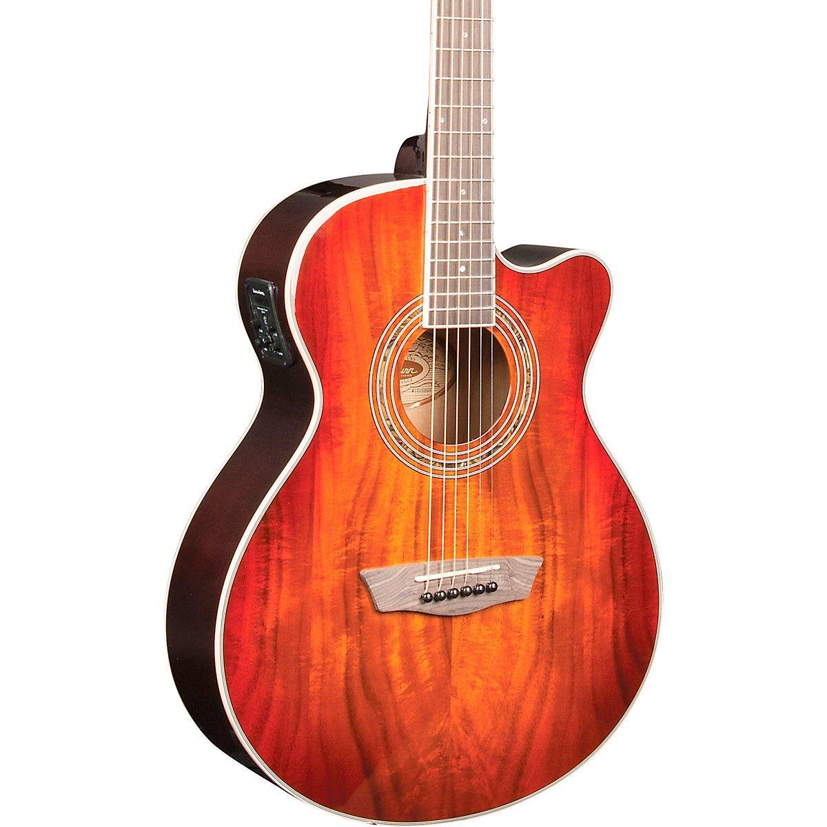 Washburn Ea55g A Festival Acoustic Electric Guitar Acoustic Electric Guitar Guitar Acoustic Electric